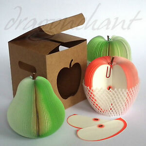 APPLE-Shaped-Notepad-with-GIFT-BOX-Novelty-Memo-Teacher-Student-Office-Gift-UK