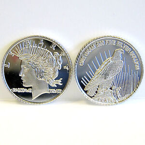 SILVER-BULLION-ROUND-1-GRAM-SILVER-BAR-TRIBUTE-TO-PEACE-DOLLAR-ART