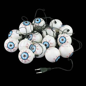 String of 16 Eyeball Lights Halloween Flashing Lights ...