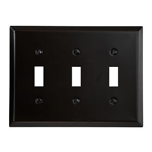 Switch Plate Outlet Cover Wall Rocker Oil Rubbed Bronze