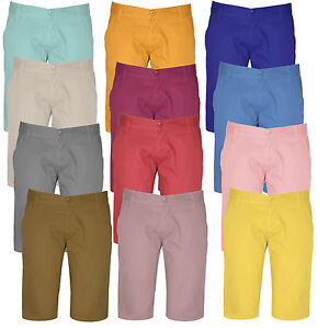 Mens-Shorts-Casual-Summer-Straight-Design-Soft-Cotton-Denim-Chino-28-30-32-34-36