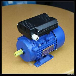 Electric-motor-single-phase-240v-0-75kw-1HP-1400pm-shaft-size-19mm