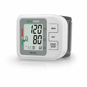Digital Wrist Blood Pressure Monitor & Heart Beat Meter Measures Pulse Rate