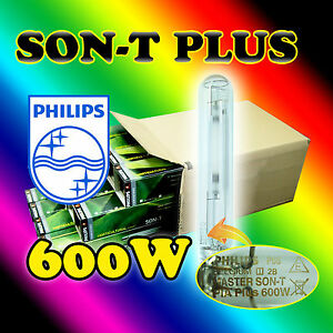 PHILLIPS Son-T PLUS 600w HPS Hydroponic Grow light for Professional Growers