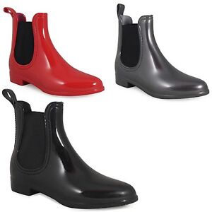 womens-new-ankle-chelsea-low-heel-ladies-wellies-wellington-snow-rain-boots-3-8