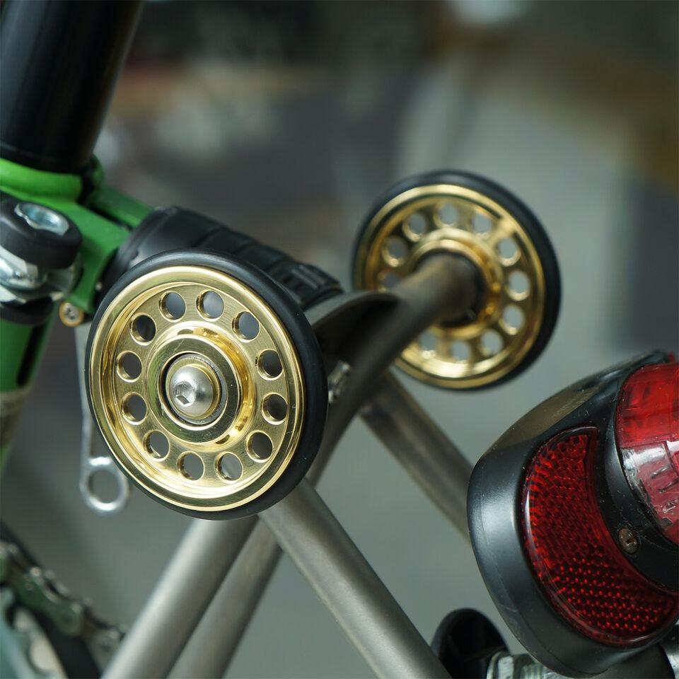 Brompton folding bike brass easy wheels L-version