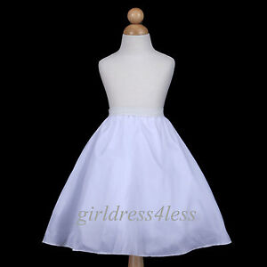 4-LAYER-FULL-WEDDING-FLOWER-GIRL-DRESS-SLIP-UNDERSKIRT-CRINOLINE-PETTICOAT-S-M-L