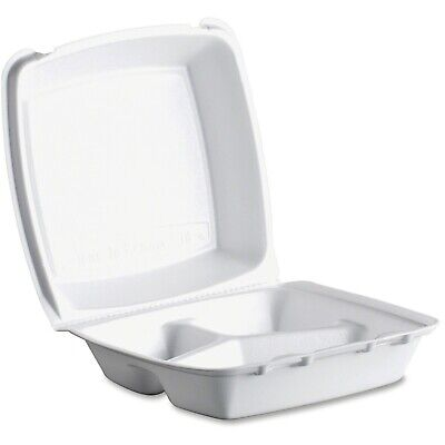 Take Out Triple-compartment Foam Food Container 200case Delivery Restaurant