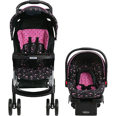 Baby Travel System Stroller Infant Car Seat Toddler Carriage Basket With Canopy