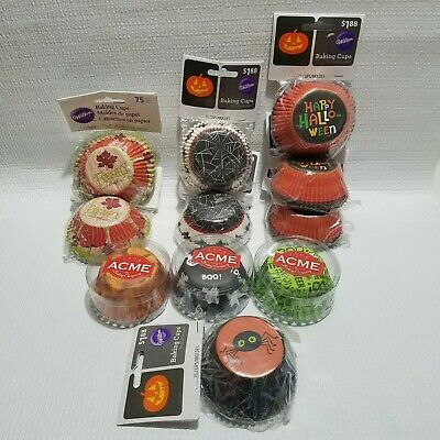 600+ Muffin Cupcake Liners Baking Cups Halloween Thanksgiving Fall Autumn Spider