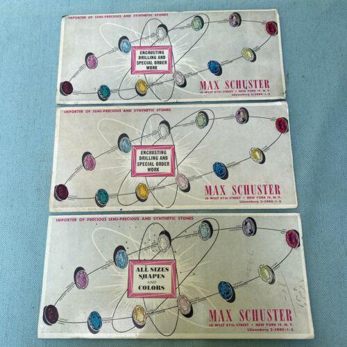 Max Schuster Jeweler Card Importer Semi-precious Synthetic Stones New York Pad