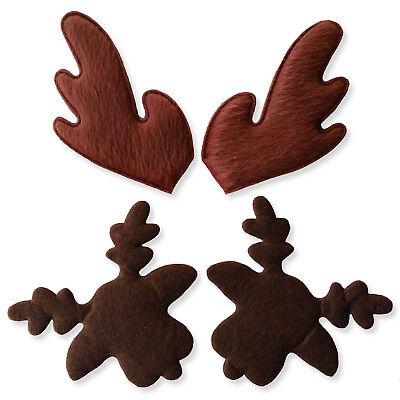 Padded Felt Reindeer Heads Antlers Christmas Craft Scrapbooking Cardmaking DIY](Diy Reindeer Antlers)