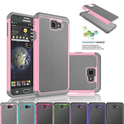 For Samsung Galaxy J7 V / J7 Prime /Perx /Halo Shockproof Rubber Hard Case Cover