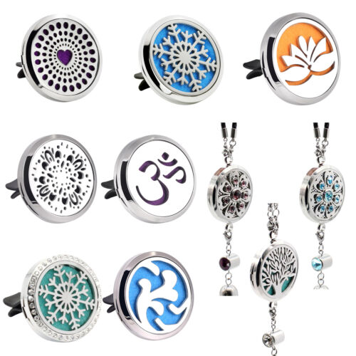Stainless Steel Aroma Essential Oil Diffuser Locket Vent Cli