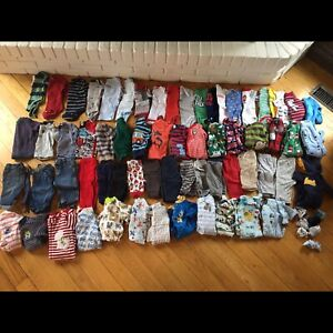 Large Lot of Trendy EUC 0-3M Baby Boy Clothes