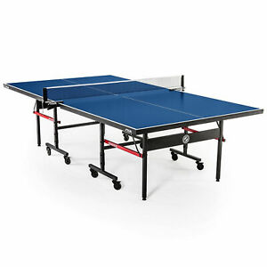 Photo Kettler Ping Pong Table - Barely Used - 5 paddles and 8 ping pong balls