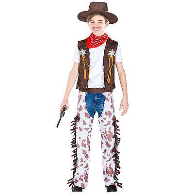 Jungenkostüm Sheriff Cowboy Western Karneval Verkleidung Chap Hose Halstuch Hut  ()