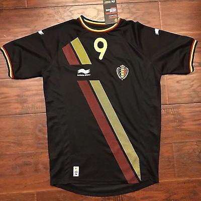 2014/15 Belgium Away Jersey #9 LUKAKU Large Camiseta Maglia Trikot Maillot BNWT image