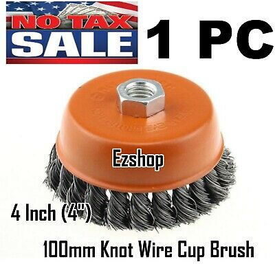 4 Twist Wire Cup Brush 58-11nc Thread Fits Most Angle Grinders