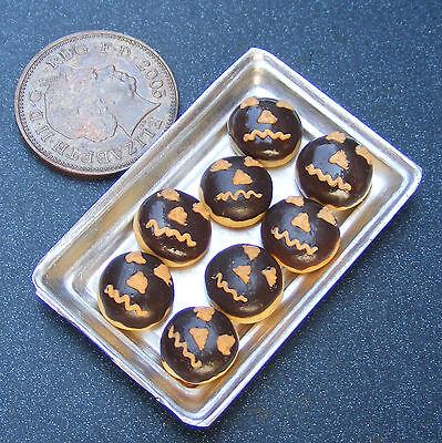 1:12 Escala 8 Suelto Chocolate Halloween Tartas en una Bandeja Tumdee Casa de](De Unas De Halloween)