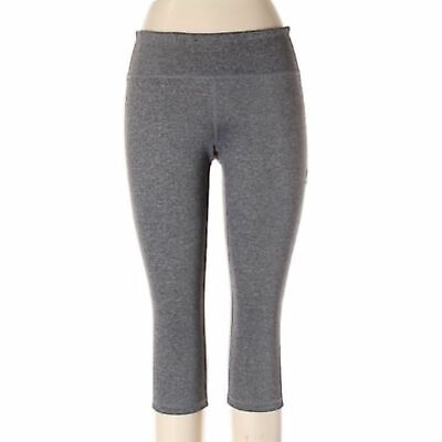 Zella Capri Tights Women Large Gray Pink Workout Running Active Pants Stretch