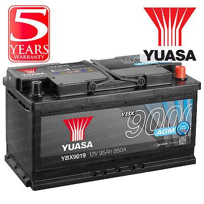 Yuasa YBX9019 Car Battery AGM Stop Start Plus 12V 850CCA 95Ah T1 Terminal
