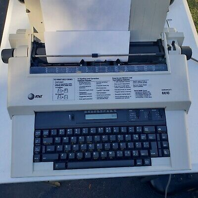 Att 6610 Surespell Ii Electric Typewriter 12 Carriage Tested Working