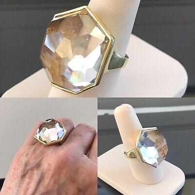 Ippolita Rock Candy Quartz Rock Crystal 18k Yellow Gold Ring