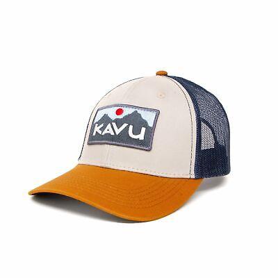 KAVU Above Standard Trucker Cap - Sky Terrain