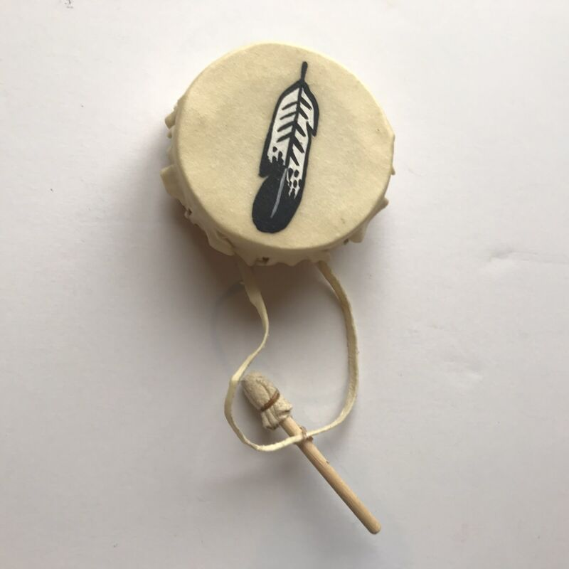 Small Native American Indian Drum With Drumstick