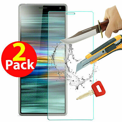 2 x Tempered Glass Screen Protector For Sony Xperia L3 CASE FRIENDLY