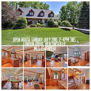 OPEN HOUSE-SUNDAY JULY 2nd-2-4pm-305 LONDON DRIVE, BEACONSFIELD