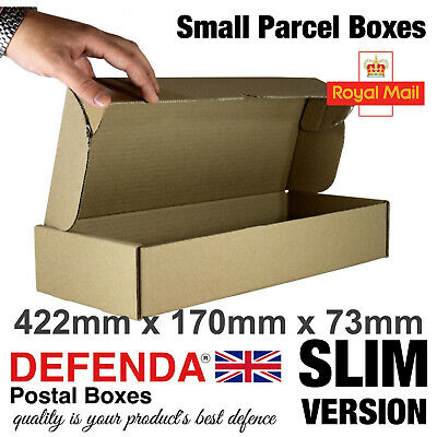 350 x SLIM LINE Royal Mail SMALL PARCEL BOXES PiP Postal Packet 422mmX170mmX73mm