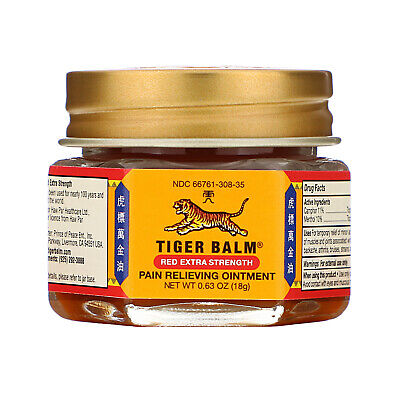 Tiger Balm Pain Relieving Ointment Extra Strength 63 oz 18 g