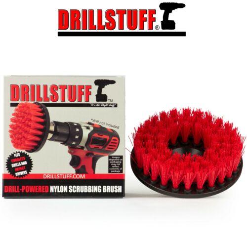 "Heavy Duty Scrub Brush Car Carpet Mat 5"" Round Brush with Power Drill Attachment"