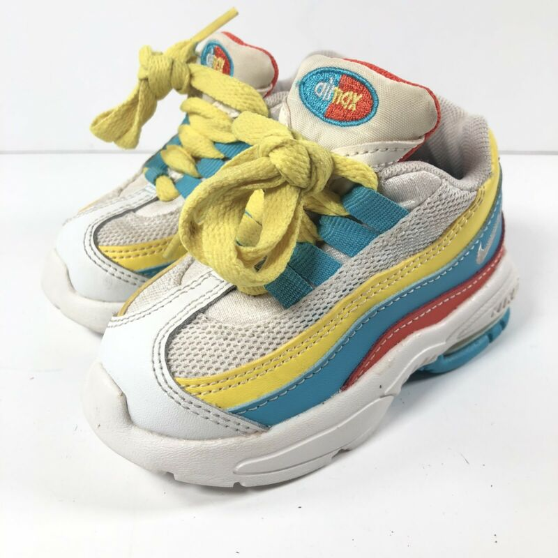Nike Air Mac 95 Blue Fury White Toddler Size 5C Boys Girls Sneakers CK0058-400