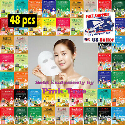 Hydrating Masque - 48 pcs Korean Ultra Hydrating Essence Mask Pack , Korean Facial Mask Sheets