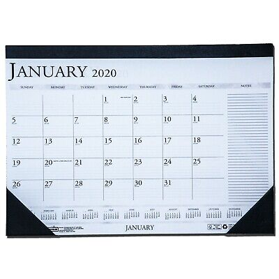 """2020 1646 HOD1646 Compact Desk Pad Calendar With Notes Section, 18.5x13"""""""