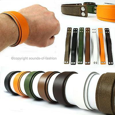Lederarmband Herren Leder Armband breit Made in Germany schwarz orange grün weiß