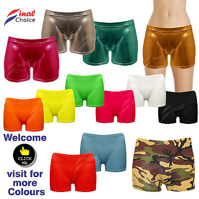 Neon Hot Pants Short Skirt Dance Party Shiny Stretchy Hot Pant Lot OF Underwear