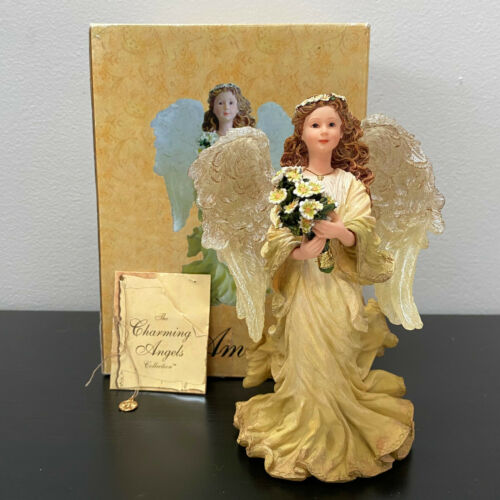 """Boyds Charming Angels Amissa Guardian of Friendship Mint in Box with Charm 6.75"""""""