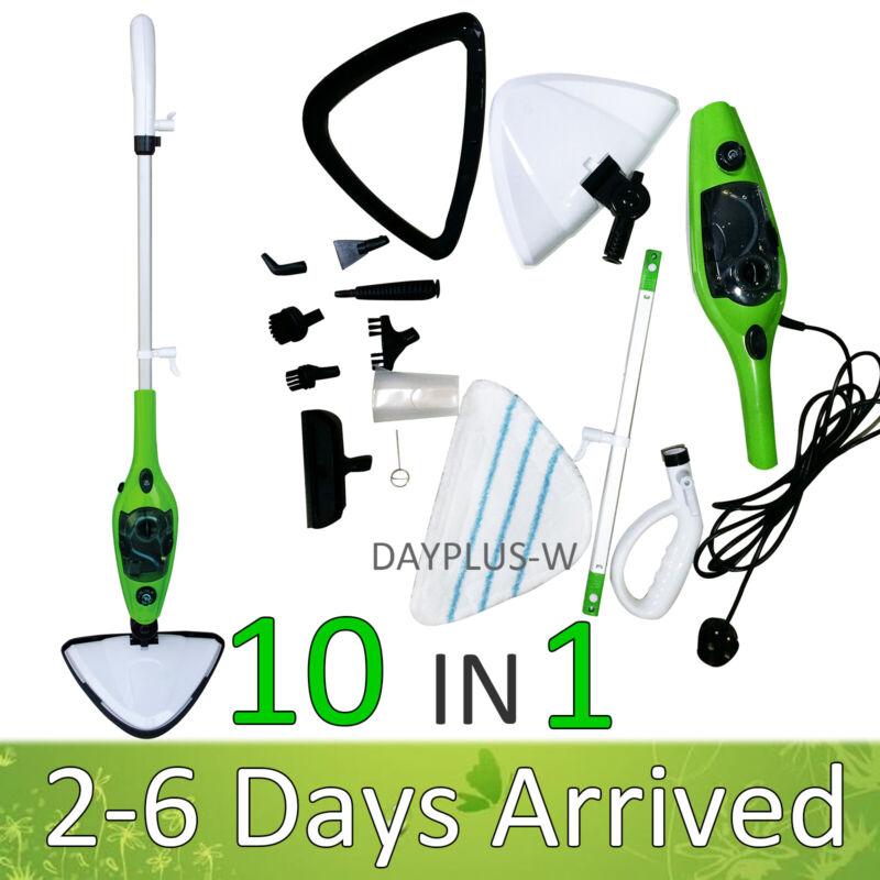 Dayplus Steam Mop, Floor Steamer, 10 in 1 Detachable Handheld Tile Cleaner, Hard
