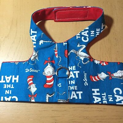 Dr Seuss Cat In The Hat Handmade Dog Harness Vest XL (1313)
