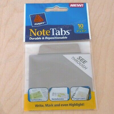 Avery Notetabs 3 X 3.5 Note Tabs Taupe Brown 10 Pack 16320