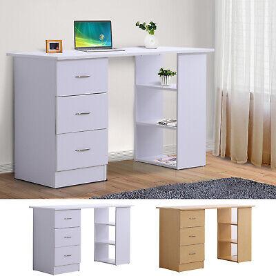 HOMCOM Schreibtisch Computertisch Bürotisch Arbeitstisch Regal mit Schubladen