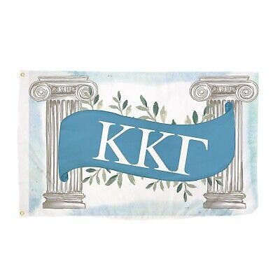 Kappa Kappa Gamma Greek Columns Flag Banner 3 x 5