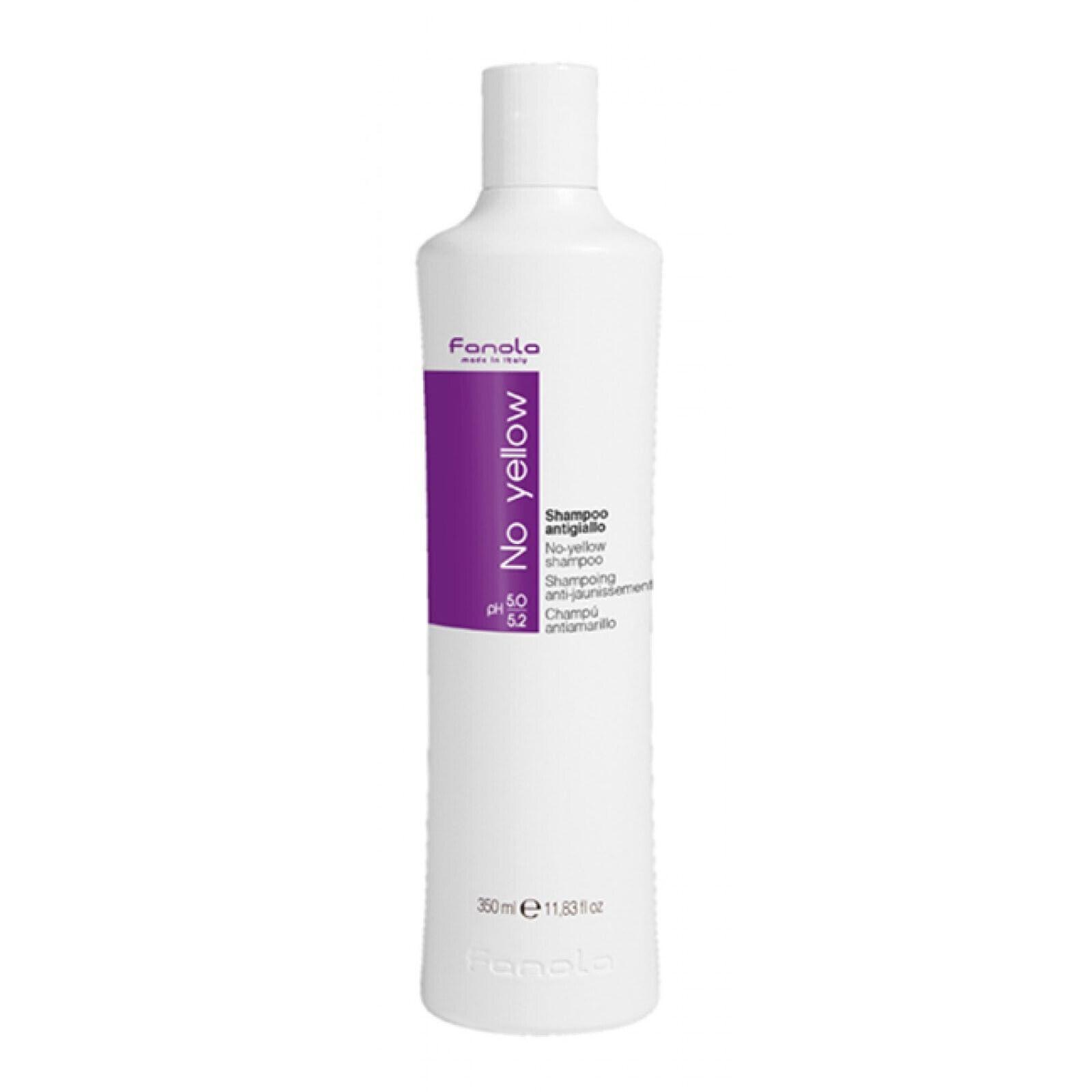 Fanola No Yellow Shampoo gegen Gelbstich für blondes Haar anti Gelb 350 ml