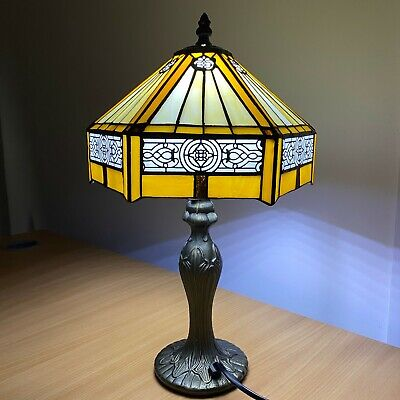 Beautiful Hand Crafted Hexagon Lamp Tiffany style Stained Glass lighting Shade