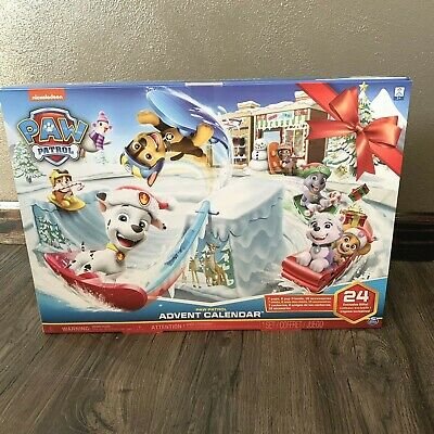 Paw Patrol Advent Calendar Nickelodeon 24 Exclusive Gifts Pups Friends Countdown