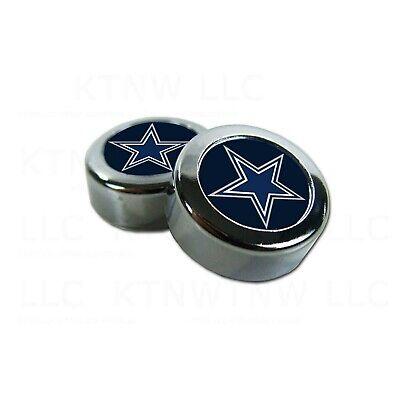 Chrome Football Dallas Cowboys License Plate frame screw caps Bolt Cover
